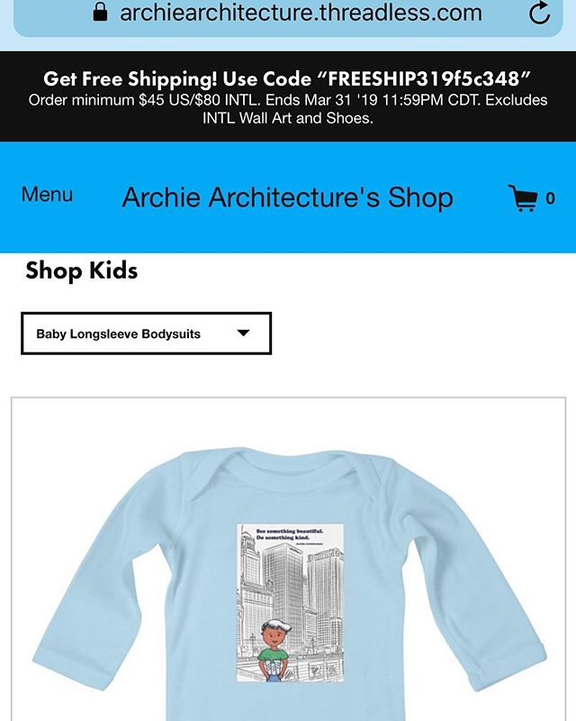 Friends! If you go to archiearchitecture.threadless.com, you'll get FREE SHIPPING on Archie merch if you order by March 31st! ❤️