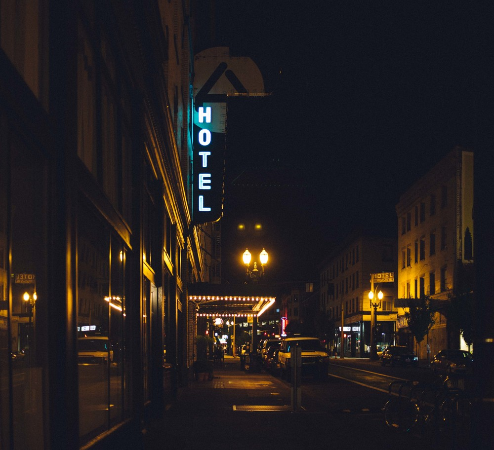 Ace Hotel Portland at night