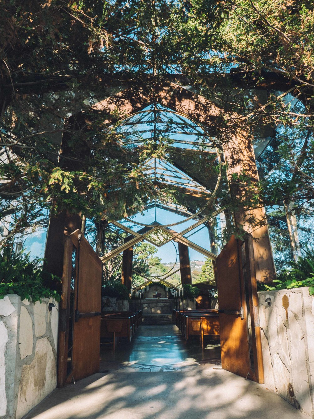 The beautiful Wayfarers Chapel in California
