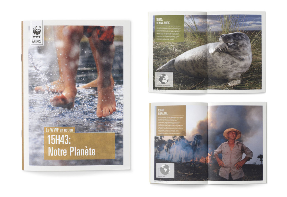 The brochures were created for use in France and Belgium, and acted as a showcase of the work that WWF does around the world.