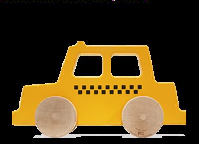 Manny & Simon Taxi Wooden Push Toy