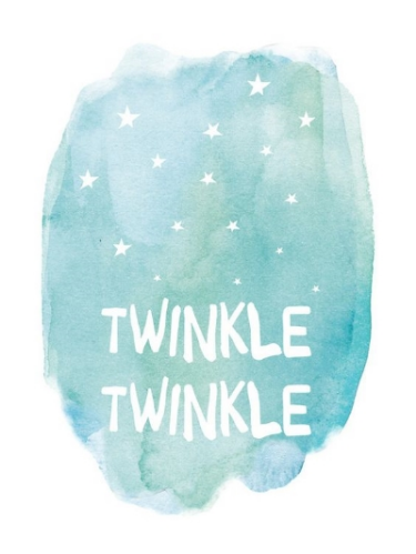 Twinkle Twinkle Print by Amy Hall