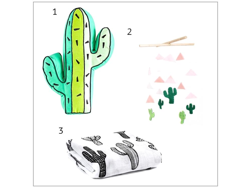 For the Nursery-Cactus Decor | King Kidlet Blog