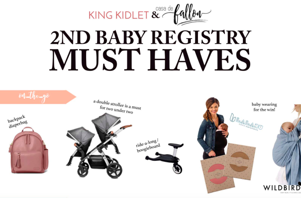 2nd Baby Registry Must Haves