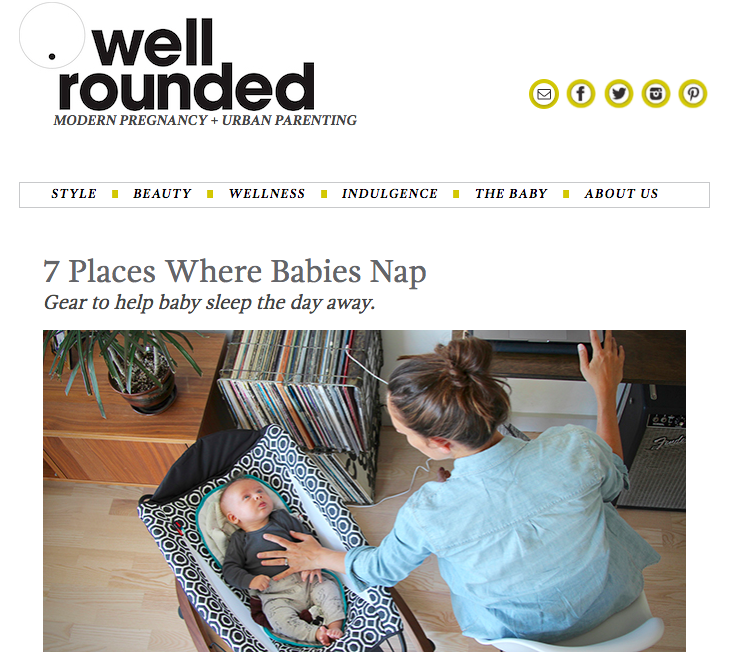 7 Places Where Babies Nap via King Kidlet