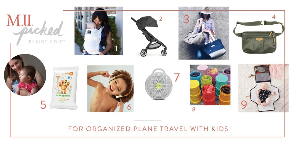 For Organized Plane Travel with Kids