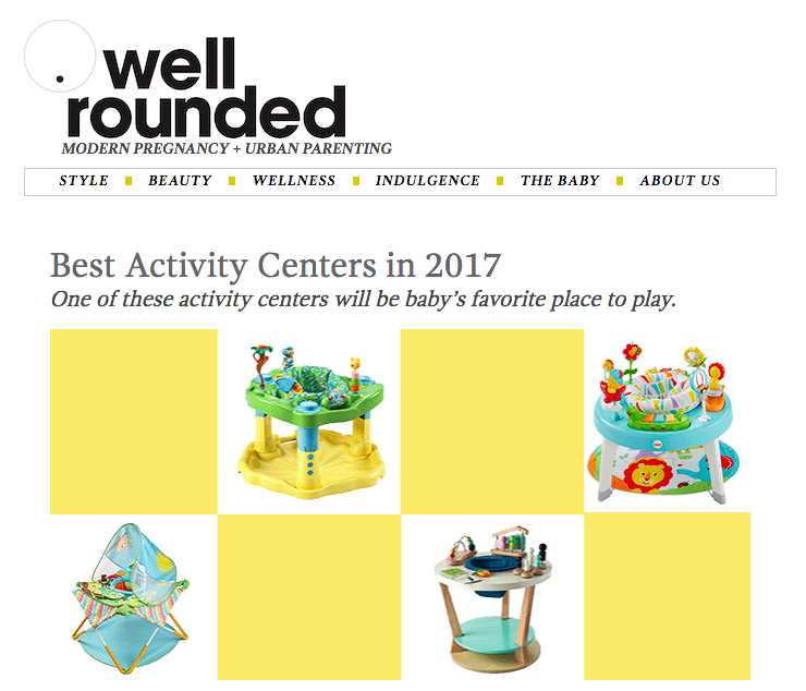 Best Activity Centers in 2017