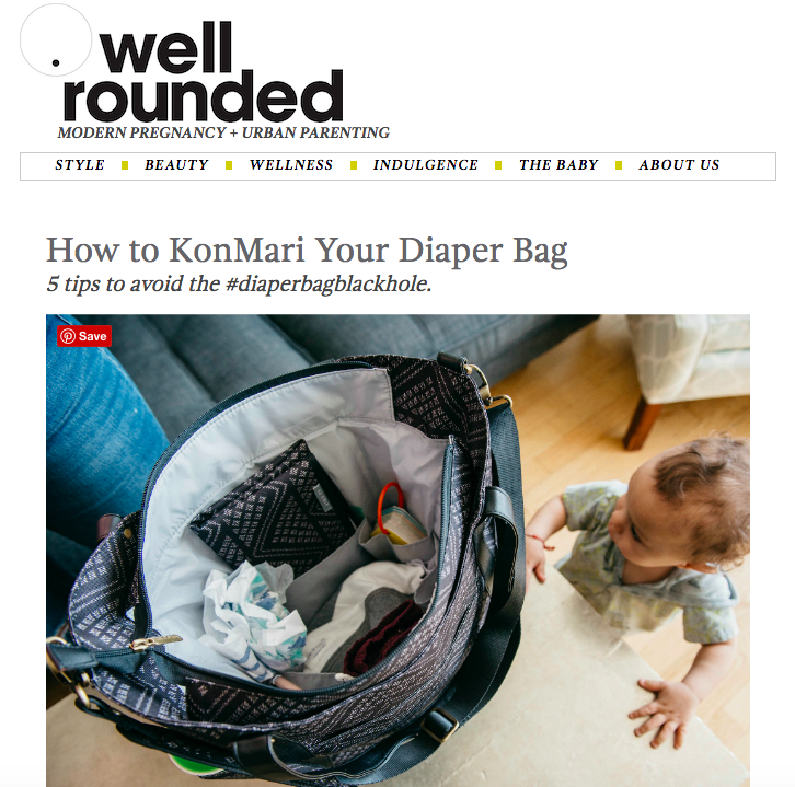 How to KonMari Your Diaper Bag