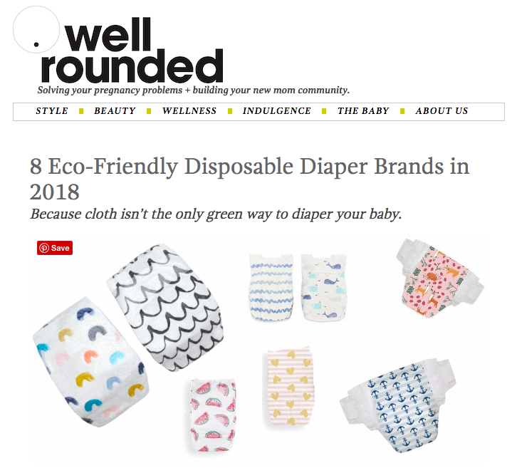 Eco-friendly disposable diapers