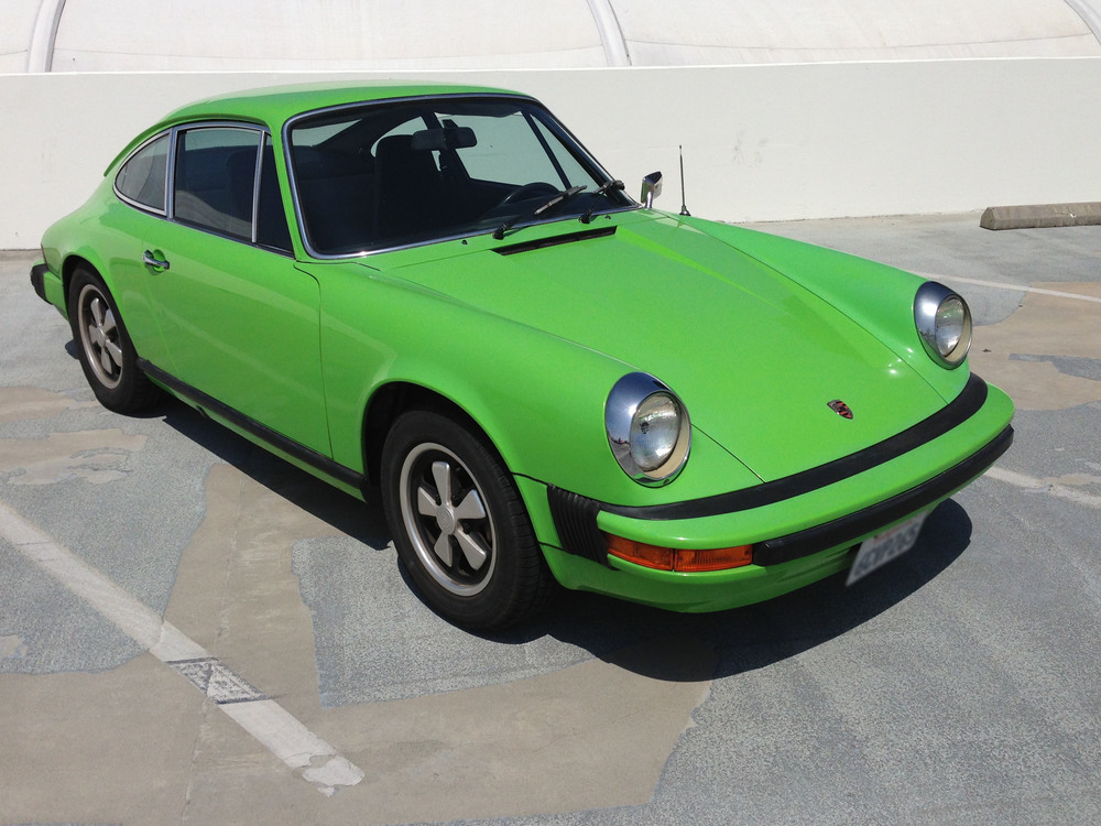 Non-metallic red, orange and green were signature colors for Porsche in the 70s like these classic 911's