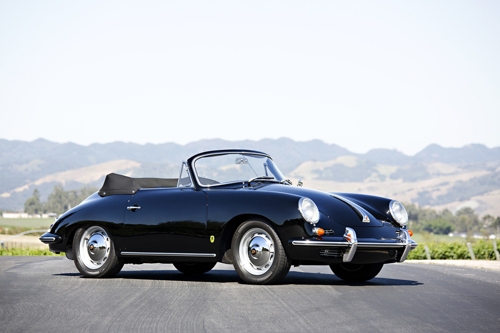 On the block: 1962 Porsche 356 B Super 90 Cabriolet (Estimate $135,000 - $150,000). Image courtesy Gooding & Company/Brian Henniker.