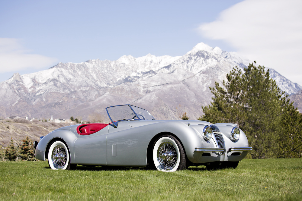 On the block: 1954 Jaguar XK120 SE Roadster (Estimate: $120,000 - $140,000). Image courtesy Gooding & Company/Brian Henniker