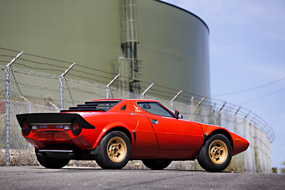 On the block: 1974 Lancia Stratos HF Stradale (Estimate: $375,000 -  $475,000). Image courtesy Gooding & Company/Brian Henniker.