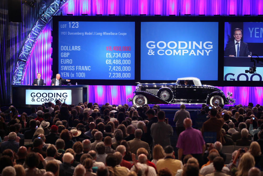 "A ""doozy"" indeed: in 2002, The Whittell Coupe Duesenberg Model J Long-Wheelbase crosses the block at Gooding & Company Pebble Beach for $9,400,000"