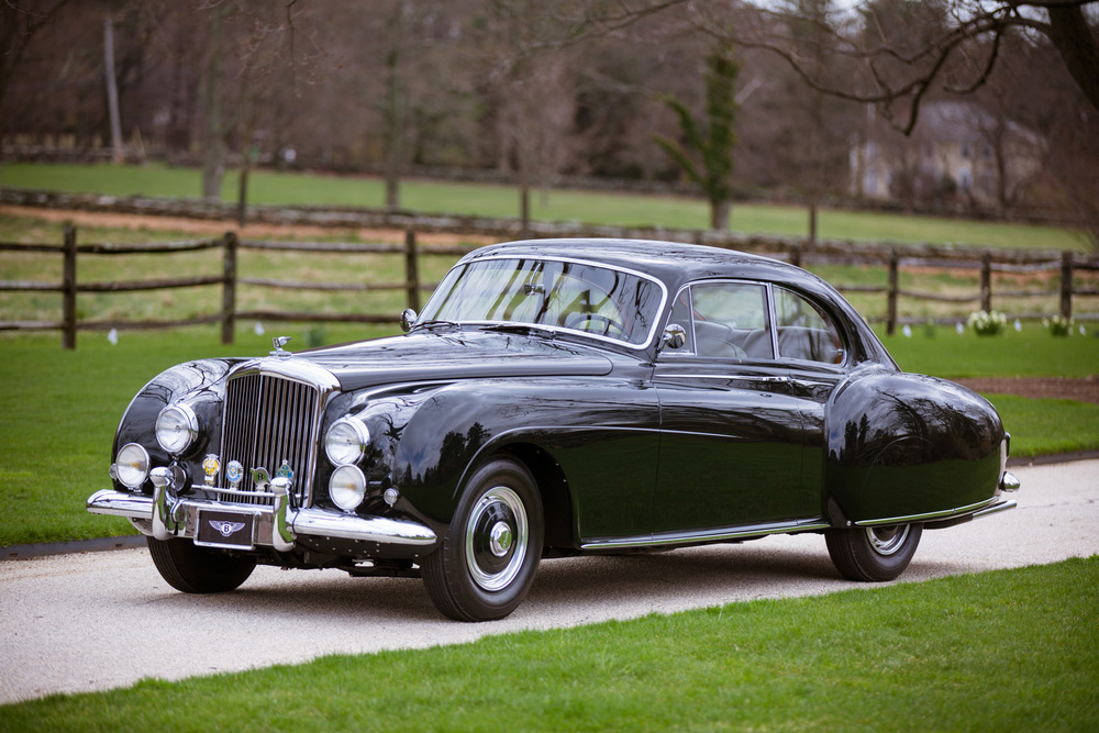 "1954 Bentley R-Type Continental Fastback, with its own grand ""Dropping Line""  (image courtesy of Gooding & Company/Mike Maez)"