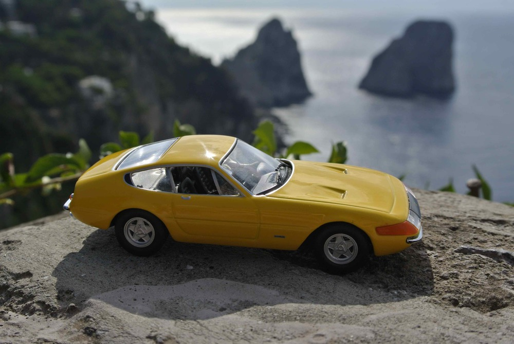 "Ferrari 365 GTB ""Daytona"" at the Fraglioni di Capri in Capri, Italy"