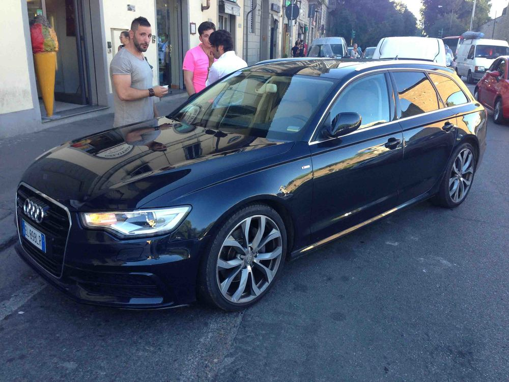 A proud Florentine with his Audi S6 Avant