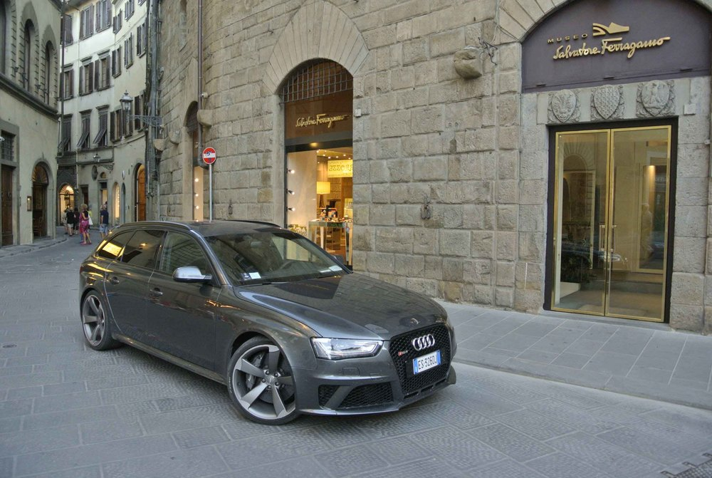 Audi RS4 Avant at the Ferragamo headquarters, Florence, Italy