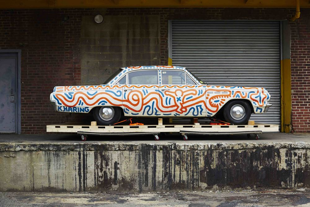 "KeithHaringBuickProfile img alt=""keith haring buick special art basel piston head"".jpg"