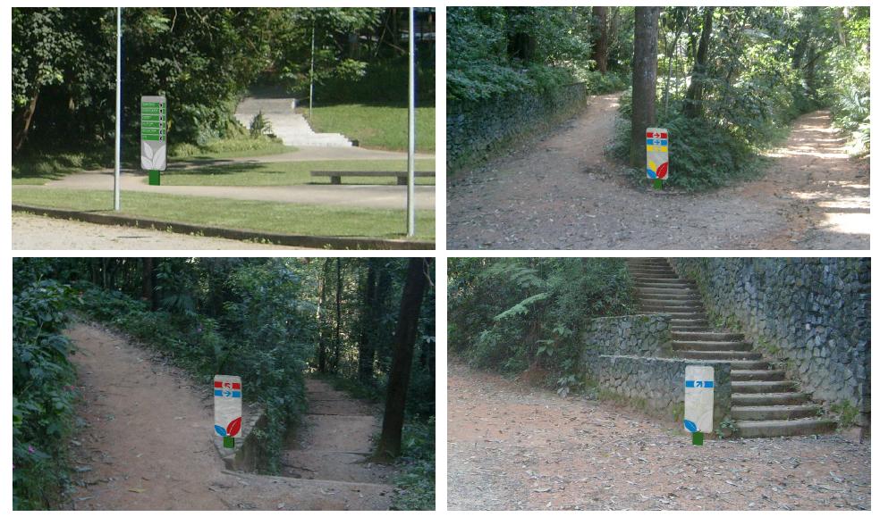 Exemplos de placas do Projeto de Sinalização!
