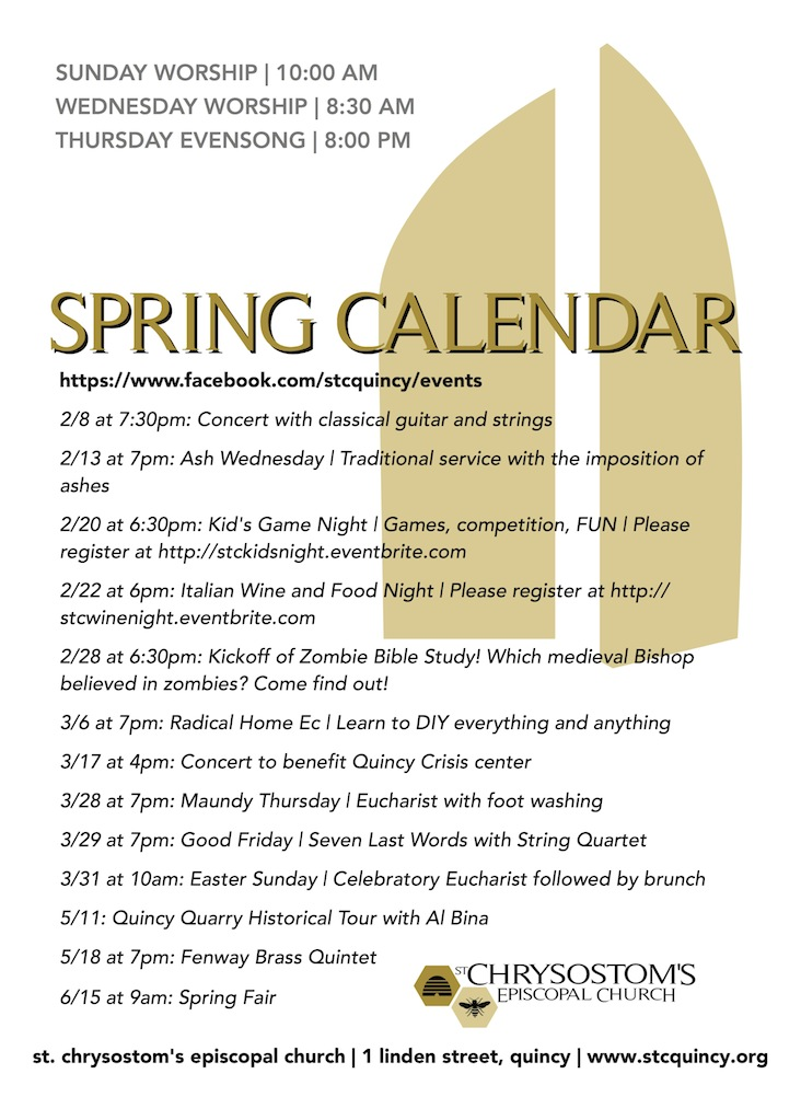 2013 Spring Calendar