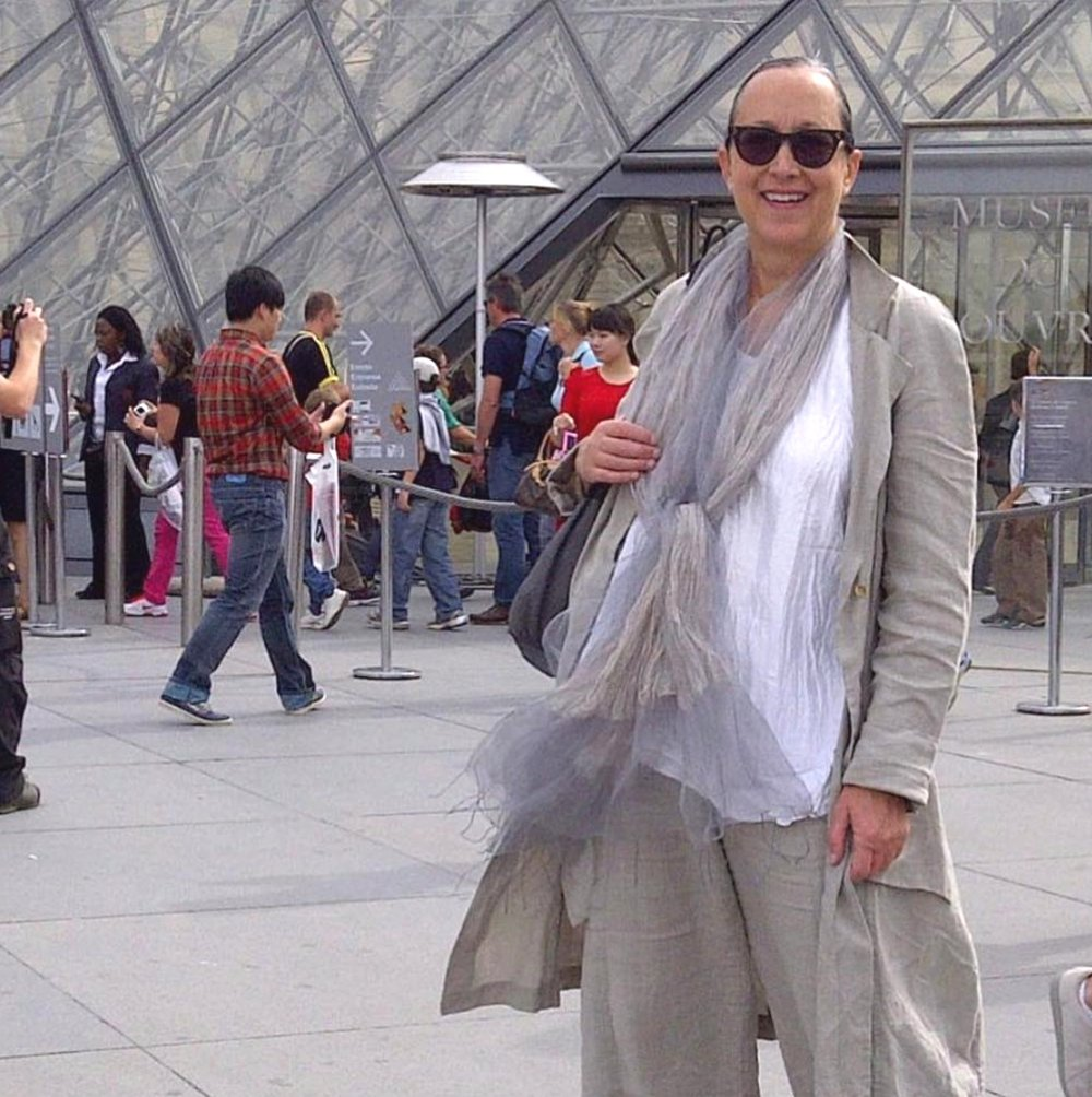 Delores Sullivan in front of the Duomo, Florence Italy
