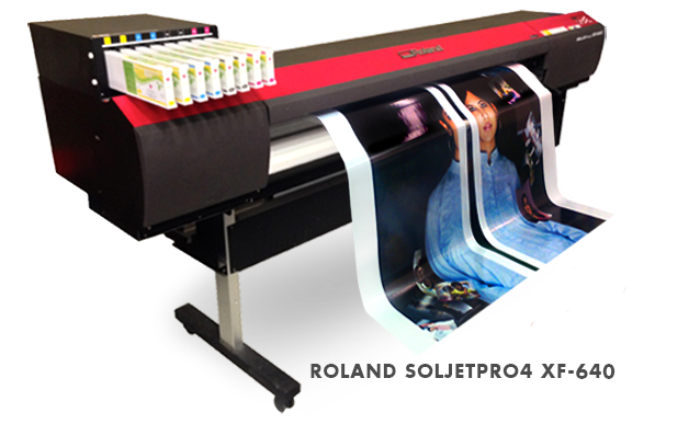 - The XF-640 incorporates the latest in inkjet technology. - Dual 8-channel piezo inkjet heads with 180 nozzles per channel. - The print heads are offset to promote image quality and create a large print swath for increased production capability. - Both print heads are configured in a mirrored pattern to help eliminate chromatic banding in bi-directional printing. - 7 different dot sizes available, for smoother gradations and richer density for superior photographic and high-resolution vector output. - The XF-640 delivers rich, bold color and deep image saturation on a much broader range of media.
