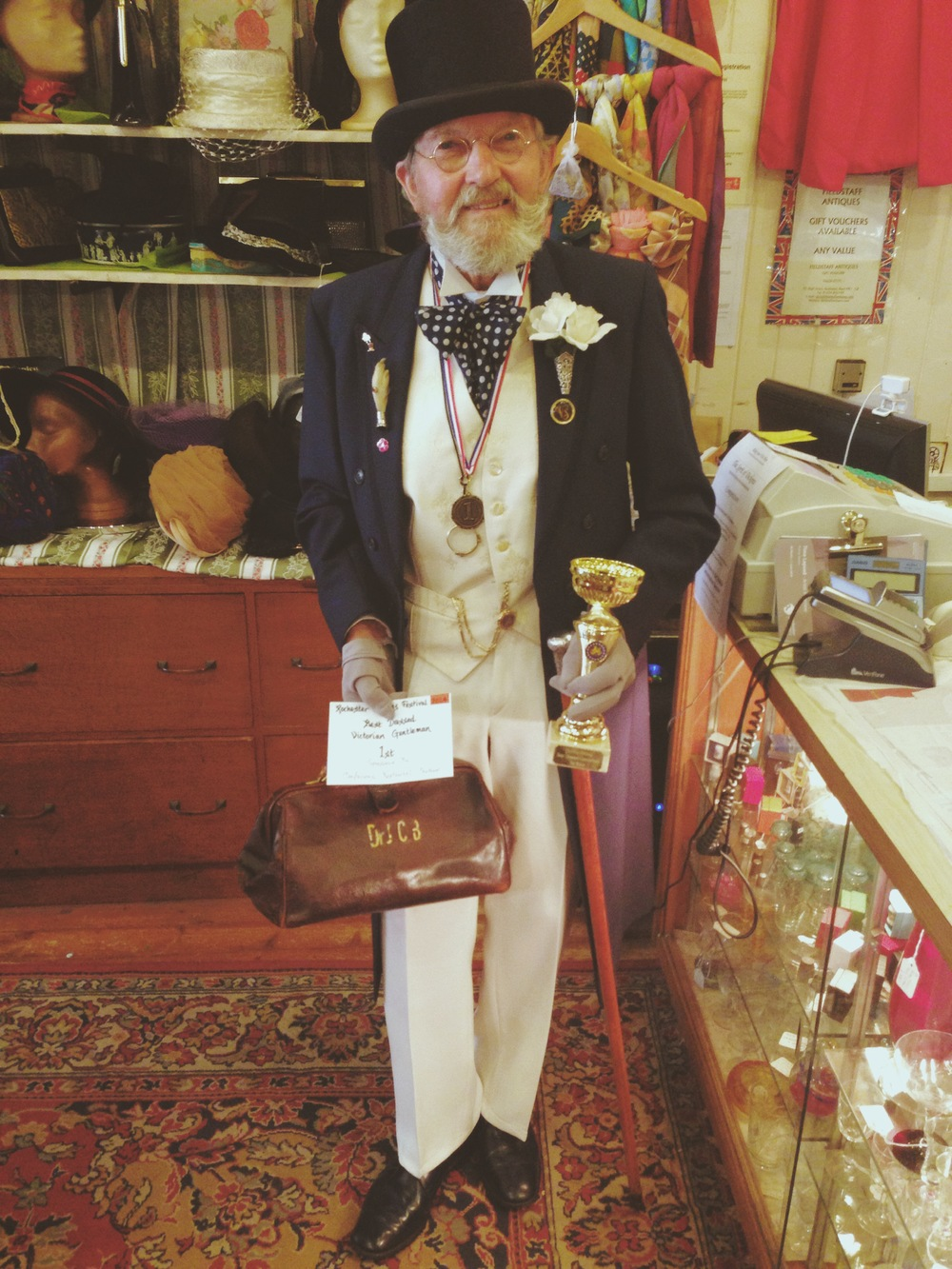 Mr Barrie Luck Winner of The Best Dressed Gentleman Award