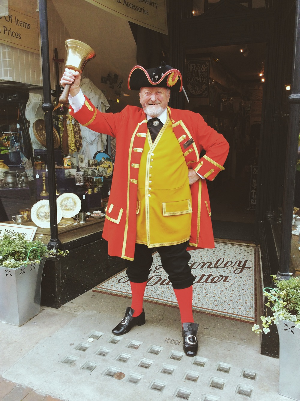 Mr Robin Burford - Rochester's wonderful Town Crier