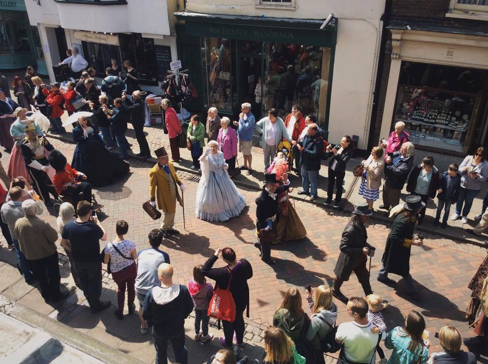 The Parade Saturday lunchtime from our upstairs window
