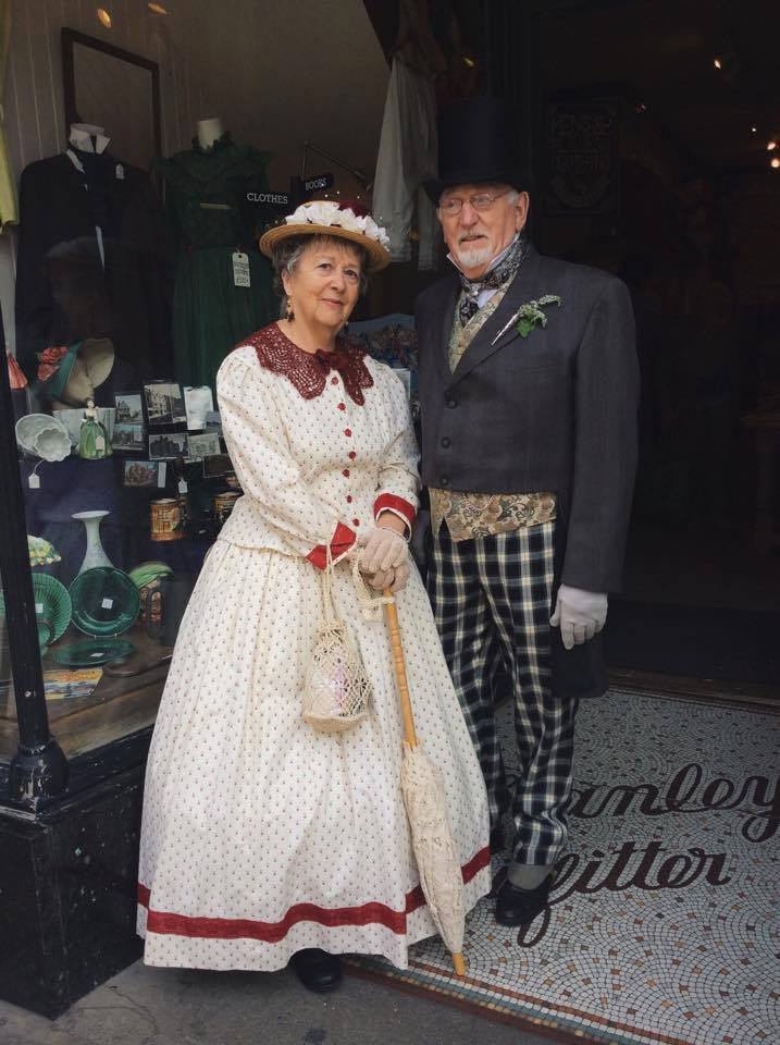 Barbara & Eddie Goldsmith from Wales in more of their great outfits.