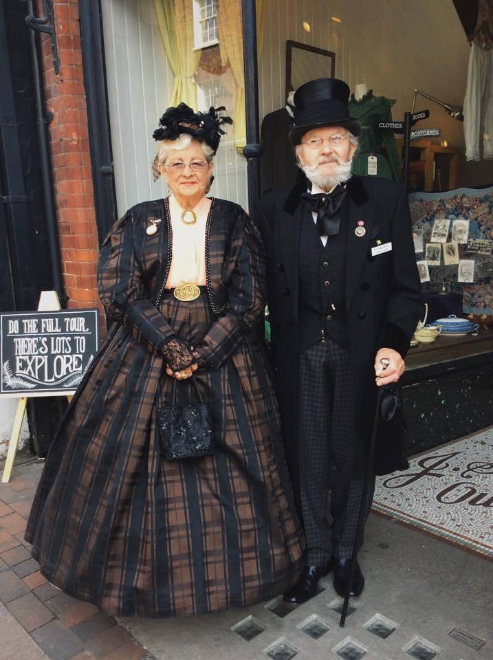 Barrie & Eve Luck in splendid costumes