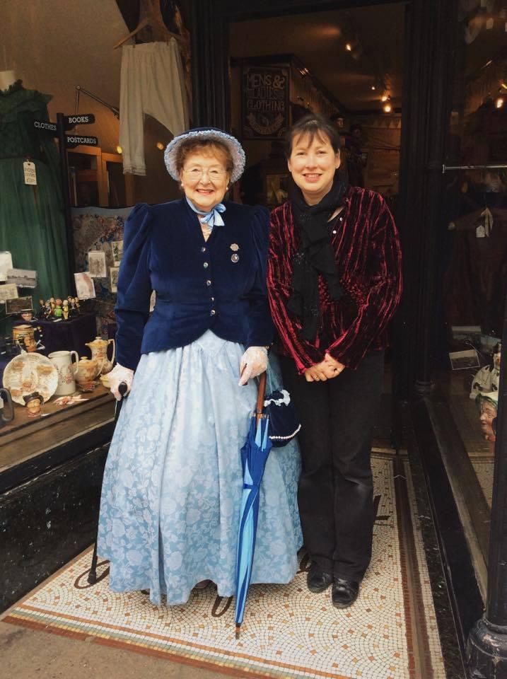 Mrs R Baldwin & Jane, always regulars at the festivals