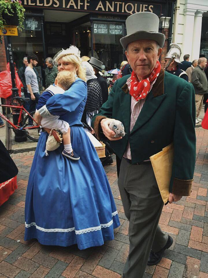 The lovely Ashley Davis in the parade with his rat!