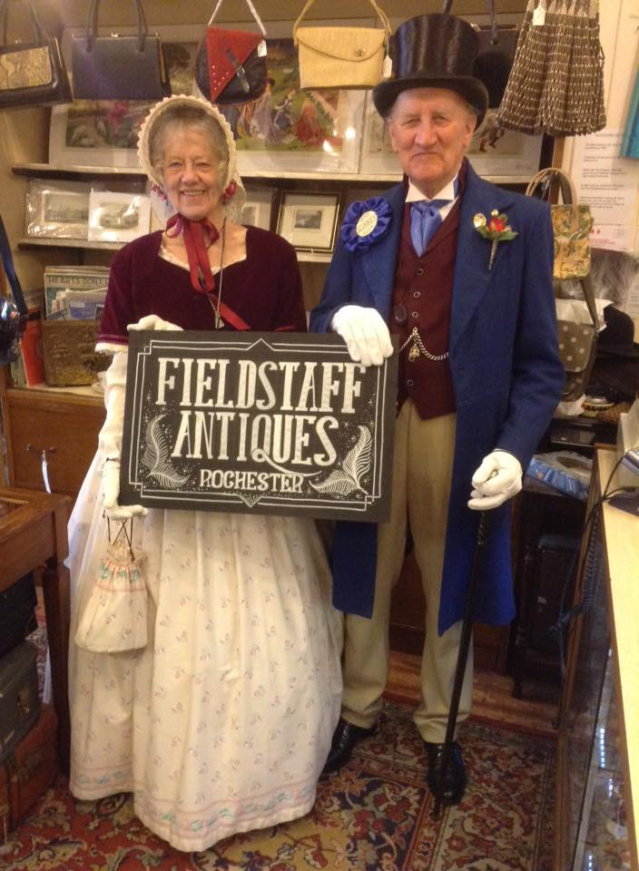 Mr & Mrs Norman Munn as The Honourable Samuel Slumkey MP for Eatonswell from the Pickwick Papers!