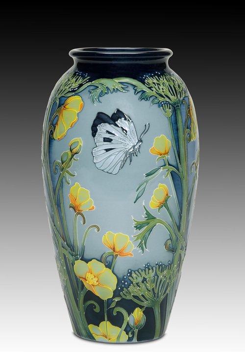 Moorcroft Vase Butterfield Fieldstaff Antiques