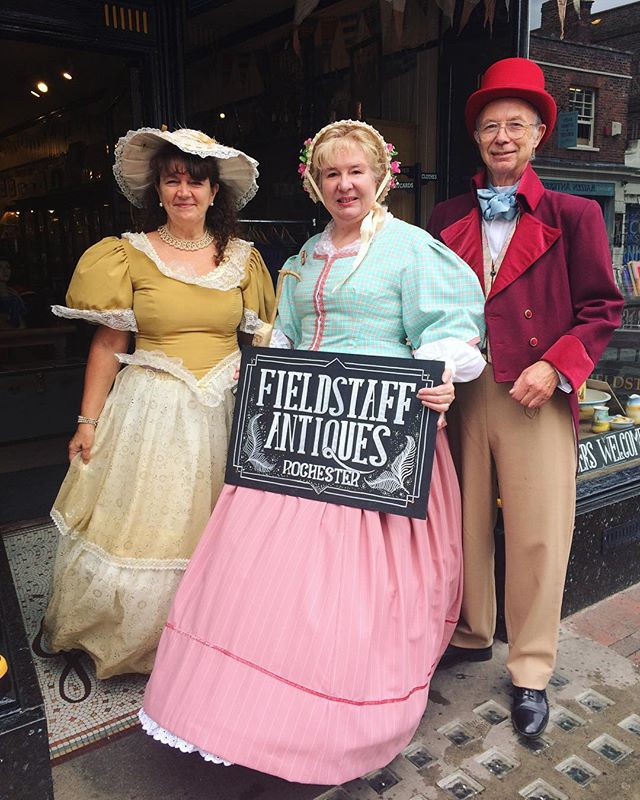 Sheila, John and Lorraine bringing a bit of colour to the high street!