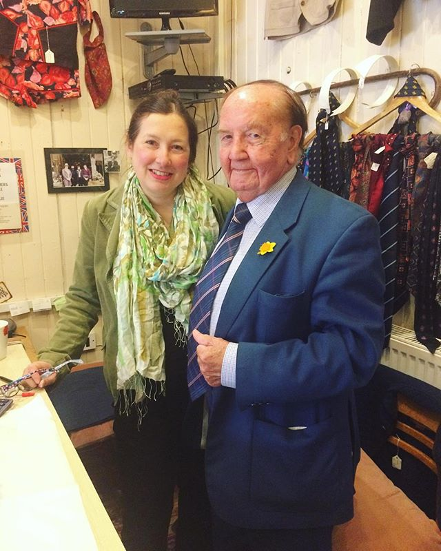 Today we had the honour of being visited by Tom Mason- He was the chairman of the first Rochester Dickens festival over 30 years ago!