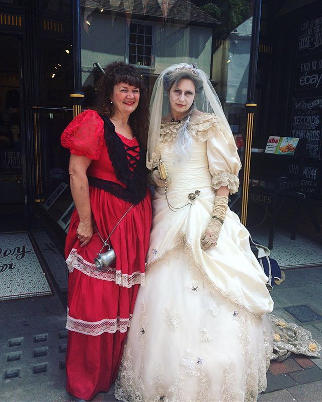 We were lucky enough to be visited by Miss Havisham and Nancy today- all the way from the 18 hundreds!