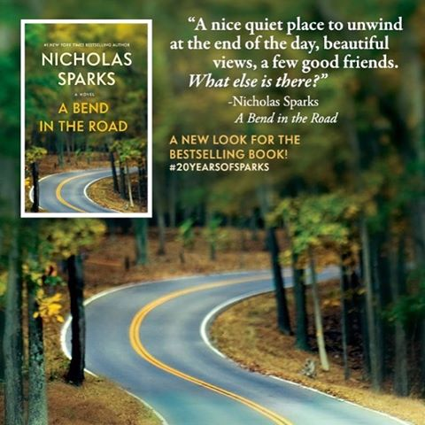 Just in time for fall we have a nifty new cover for @nicholassparks's classic A Bend in the Road! Pick it up on @amazonkindle today for $1.99. • • • • #bookstagram #kindle #nicholassparks #books #romance