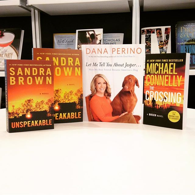 Also out from us this week: a fun new one from @danaperino, a classic @sandrabrownauthor with new cover in tpb and mm, @michaelconnellybooks 's THE CROSSING in tpb. Whew! • • • • #books #bookstagram #bookshelf #newbooks #michaelconnelly #bosch #danaperino #fiction #sandrabrown #thriller #bookworm