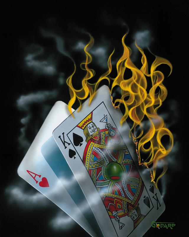 Michael Godard Burning Black Jack.jpg