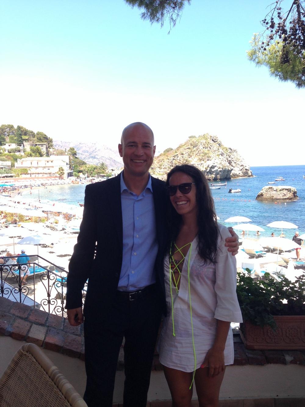 Lauren and General Manager, Luca Finardi.