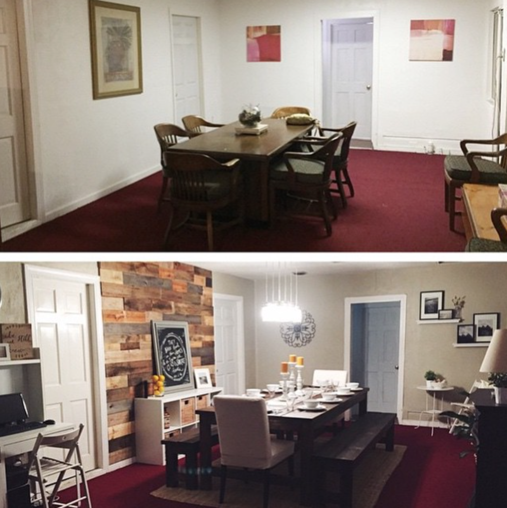 Created Place, before and after.