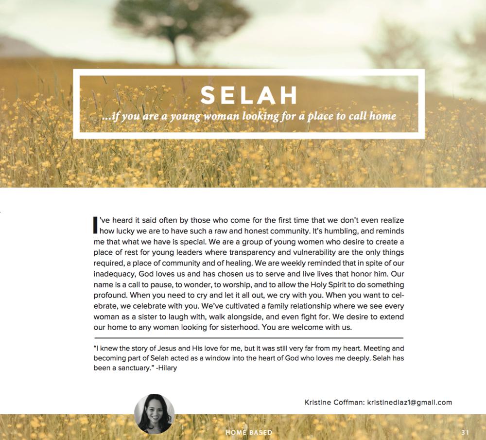 Selah's microchurch page