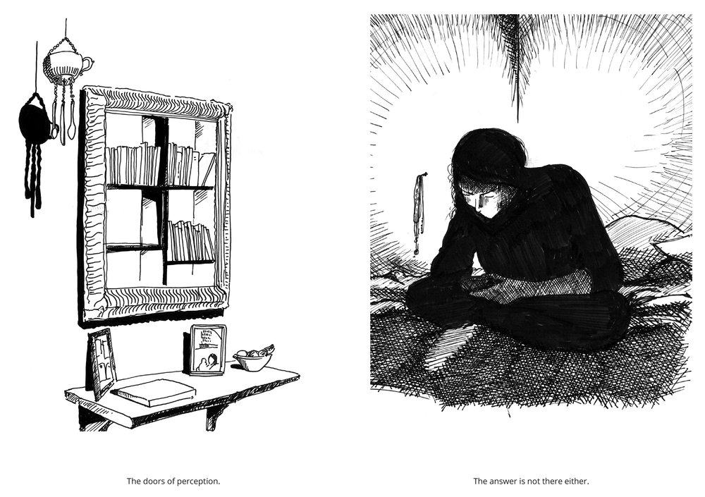 Spread for issue 1 of The Joy.