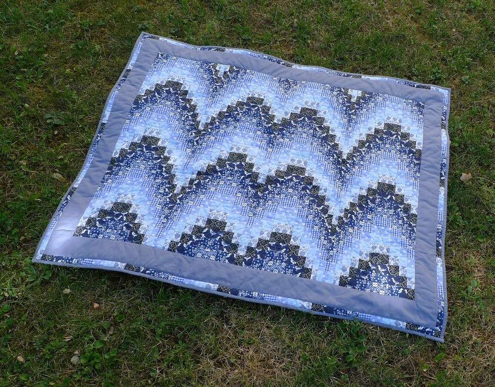 The Bargello baby quilt for my younger son