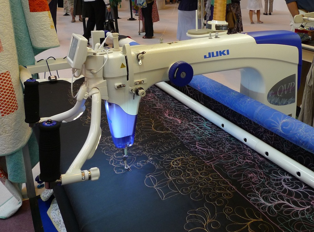 The new Juki QVP long arm quilter