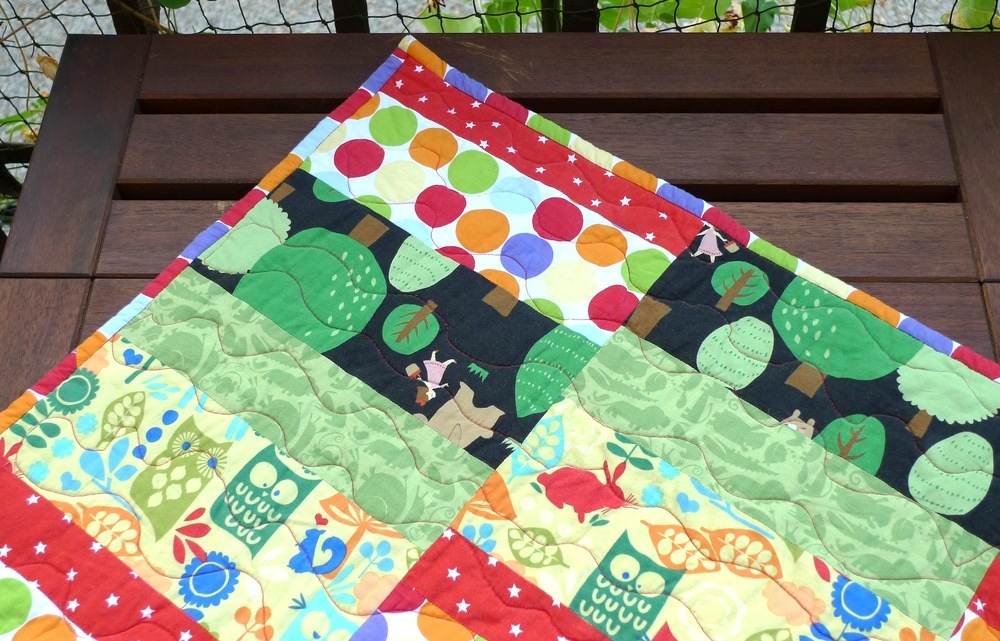 First free motion attempt - baby quilt (Sept 2013)