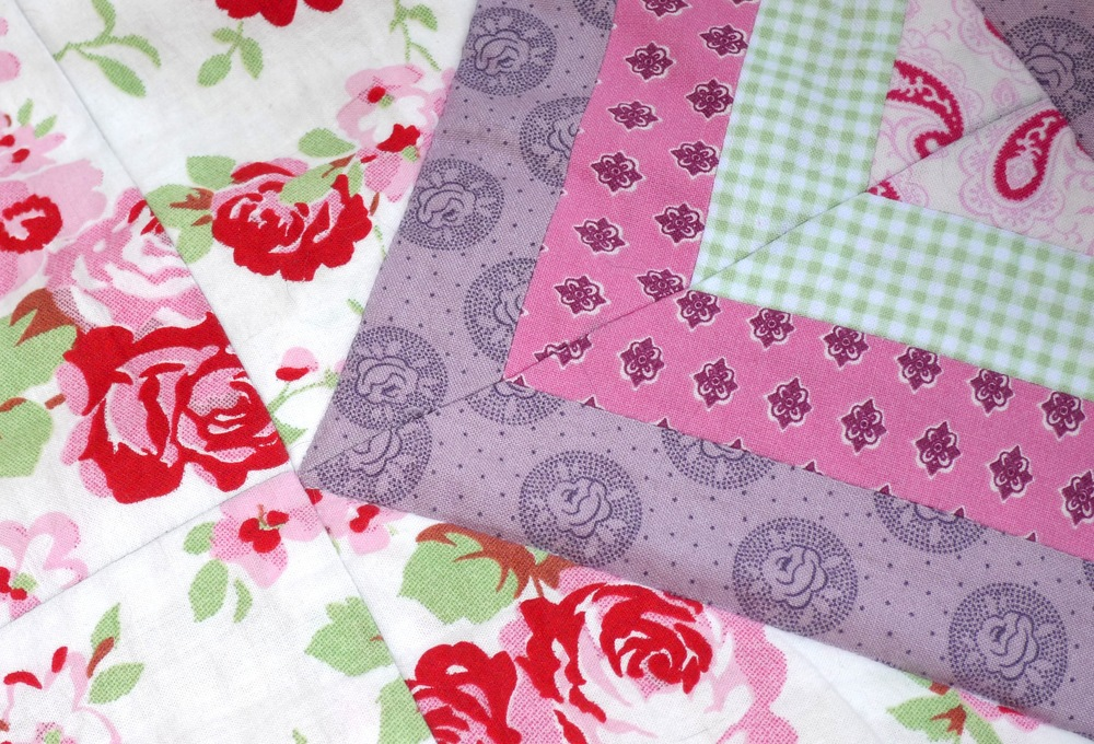 The Country Garden Quilt close-up (Sept 2013)